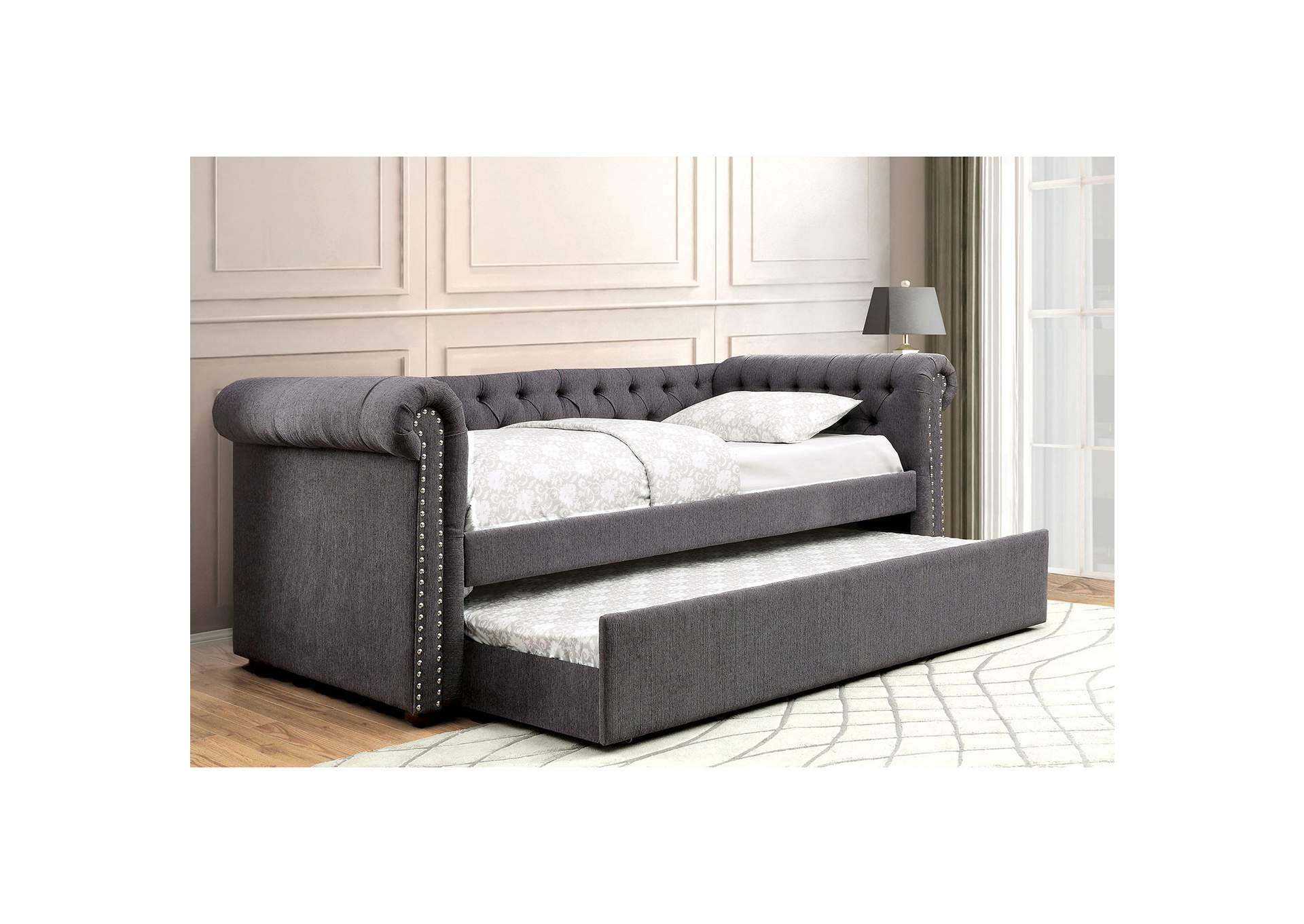 Leanna Gray Daybed w/Trundle,Furniture of America