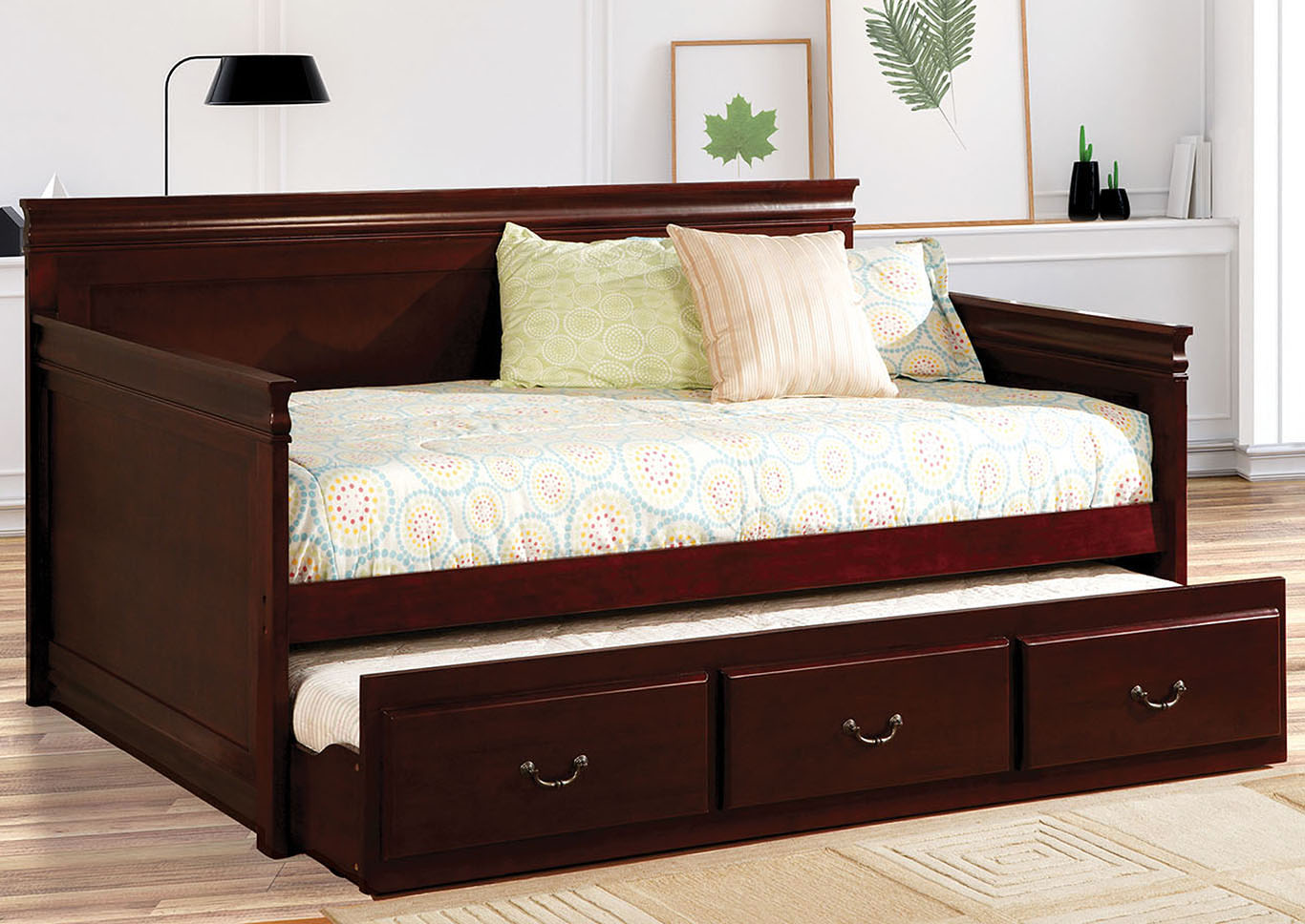 Sahara Cherry Daybed w/Twin Trundle,Furniture of America