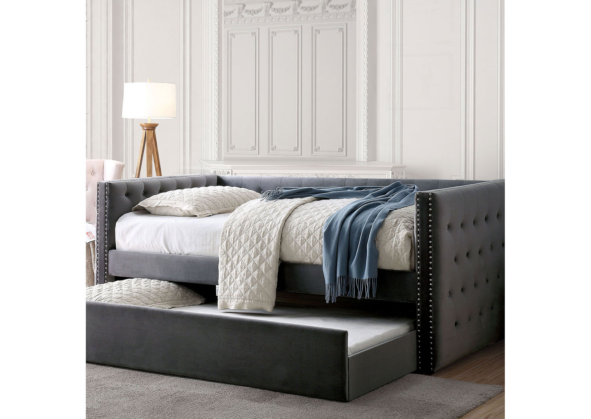 Susanna Gray Daybed w/Trundle,Furniture of America