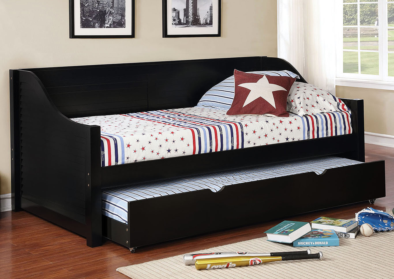 Flo Black Twin Trundle,Furniture of America
