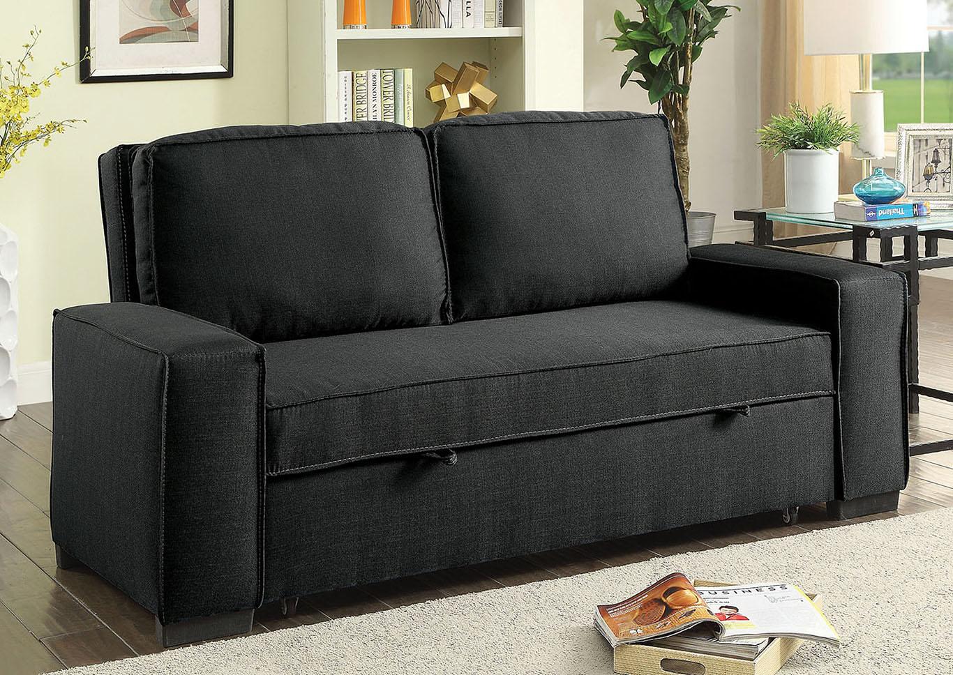 Balbriggan warm gray futon sofafurniture of america