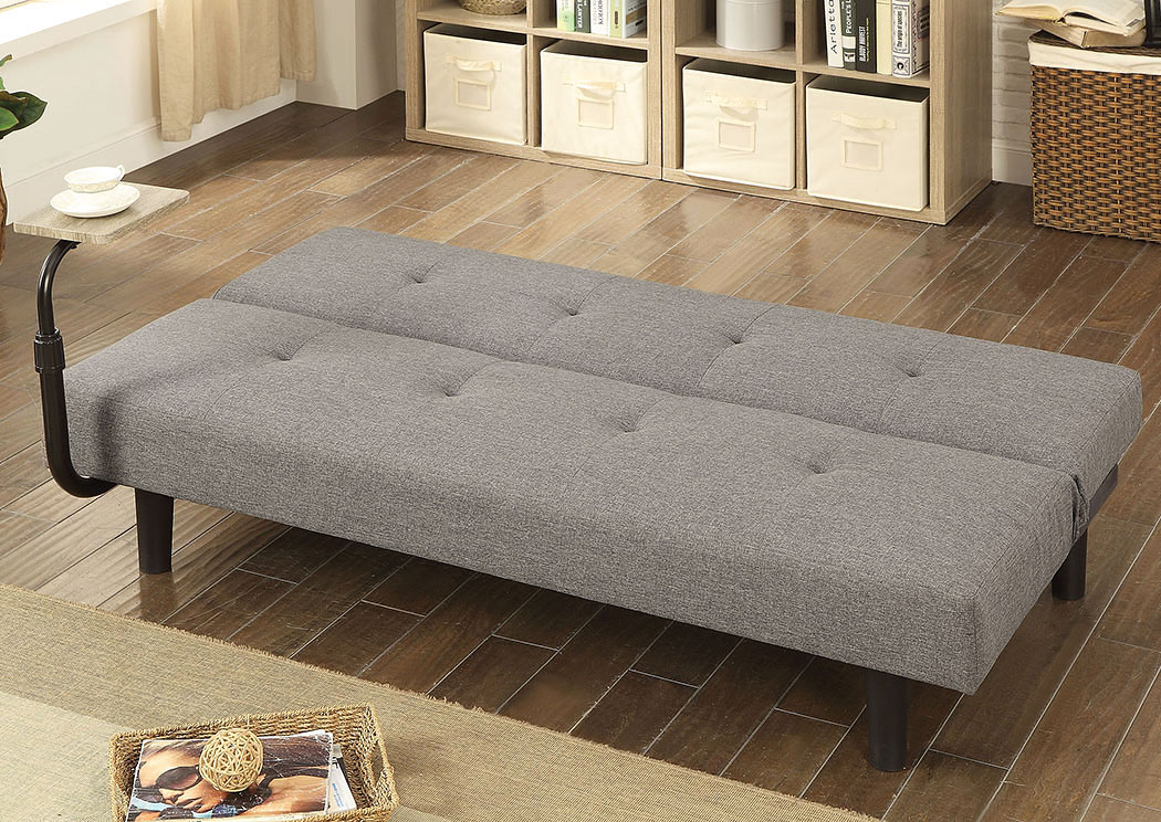 Bandon Gray/Espresso Futon Sofa,Furniture of America