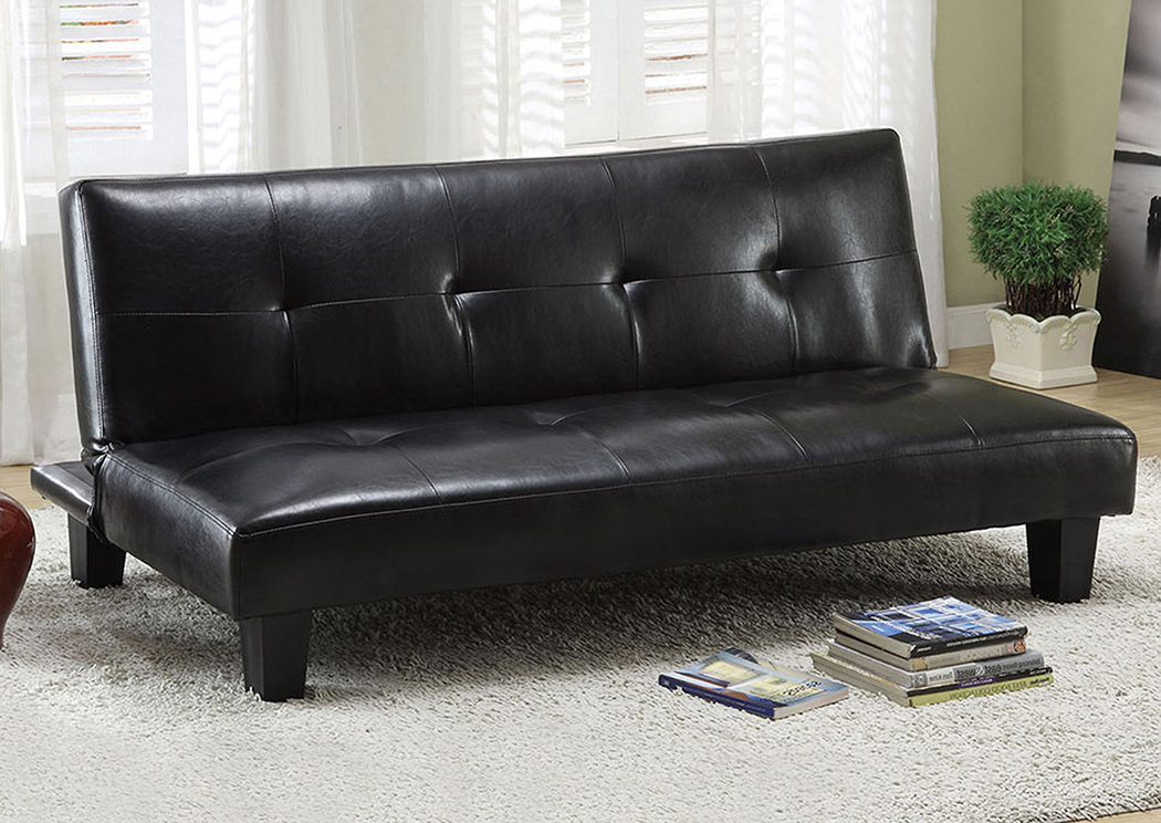 Idalia Leatherette Futon Sofa,Furniture of America