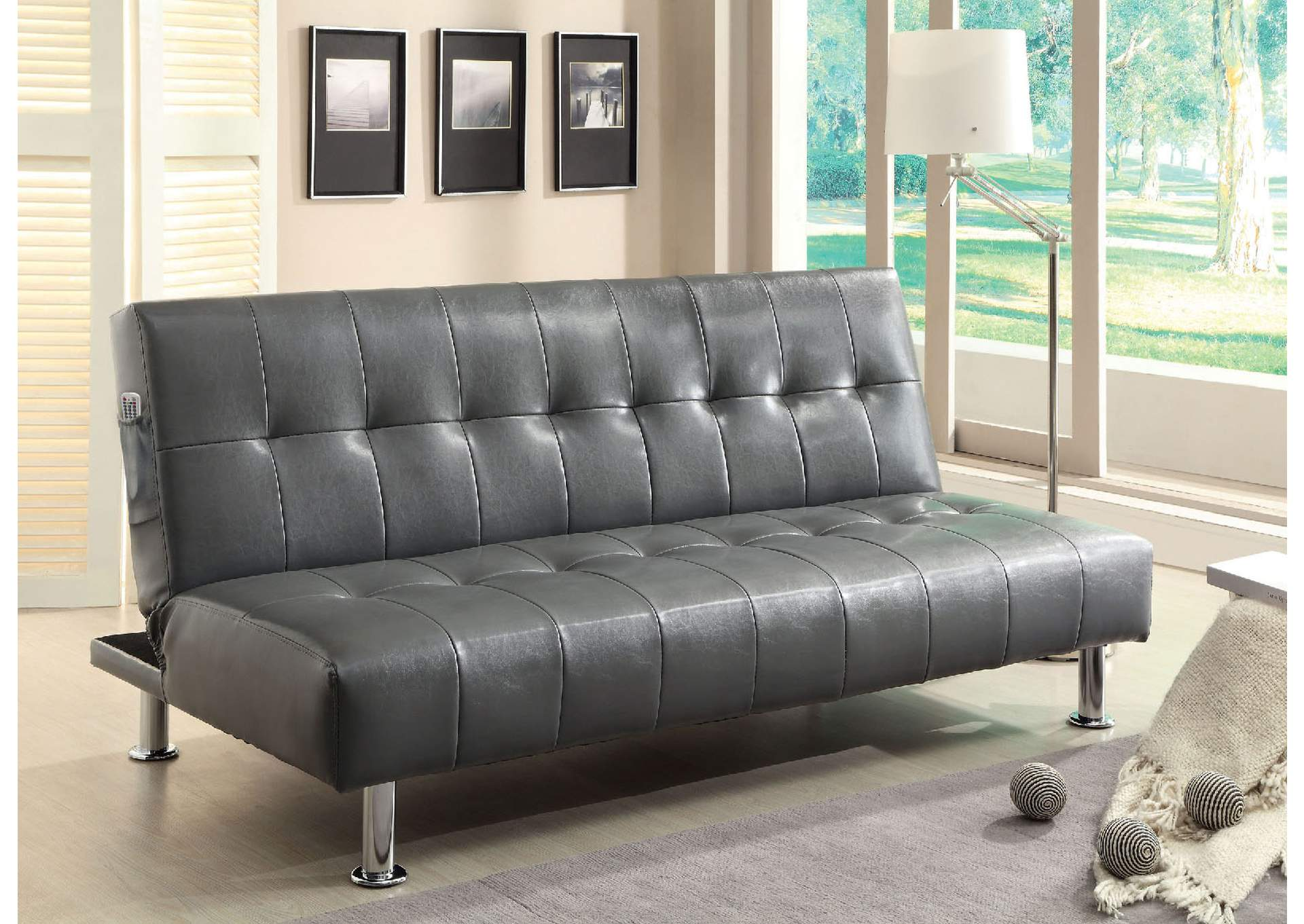 Utah Furniture Direct - Ogden, Utah Bulle Gray Leatherette ...