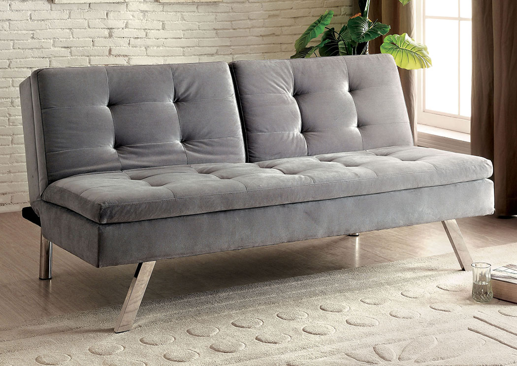 Valier Gray Split-back Futon Sofa,Furniture of America