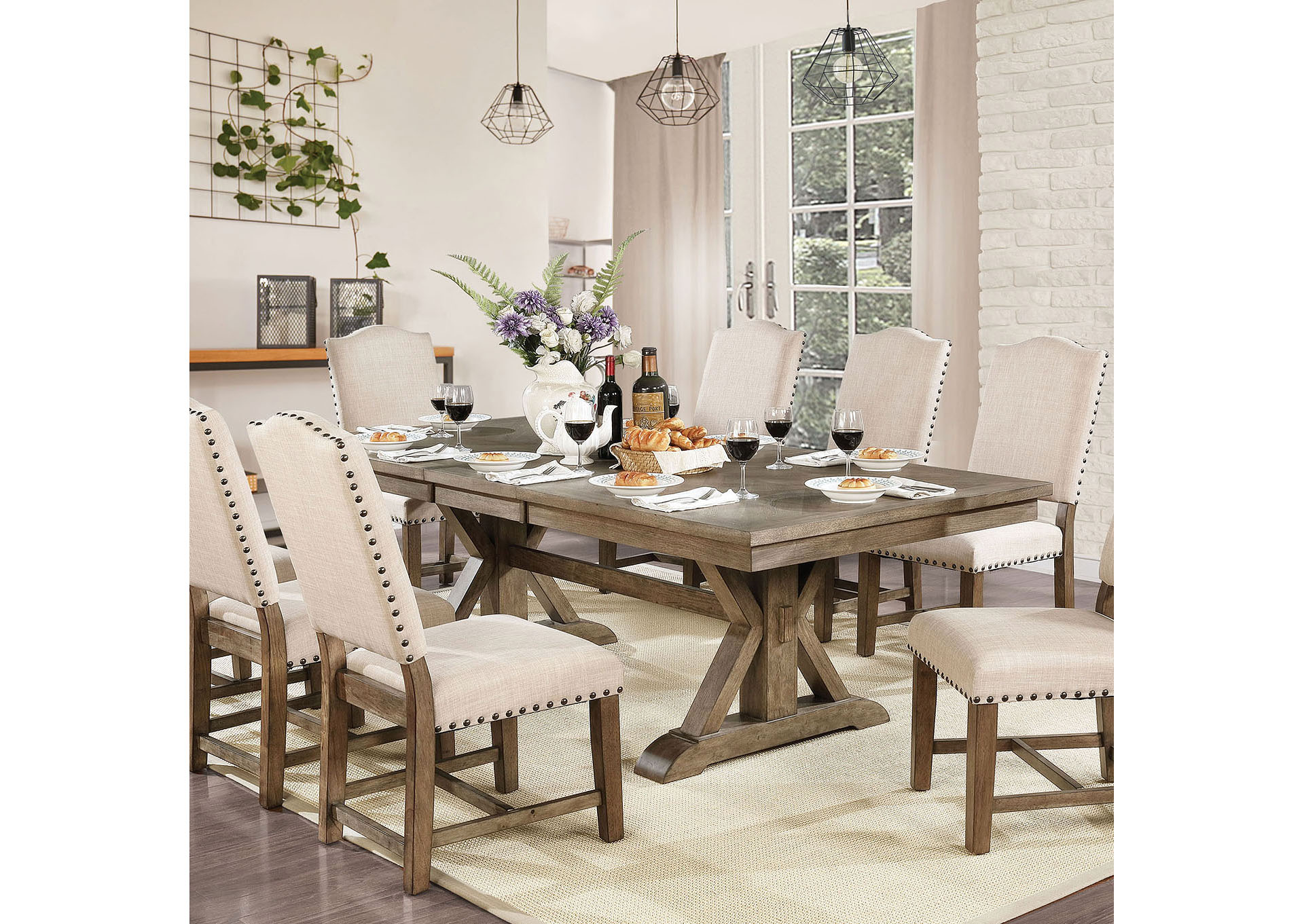 Furniture Fashions Julia Light Oak Dining Table
