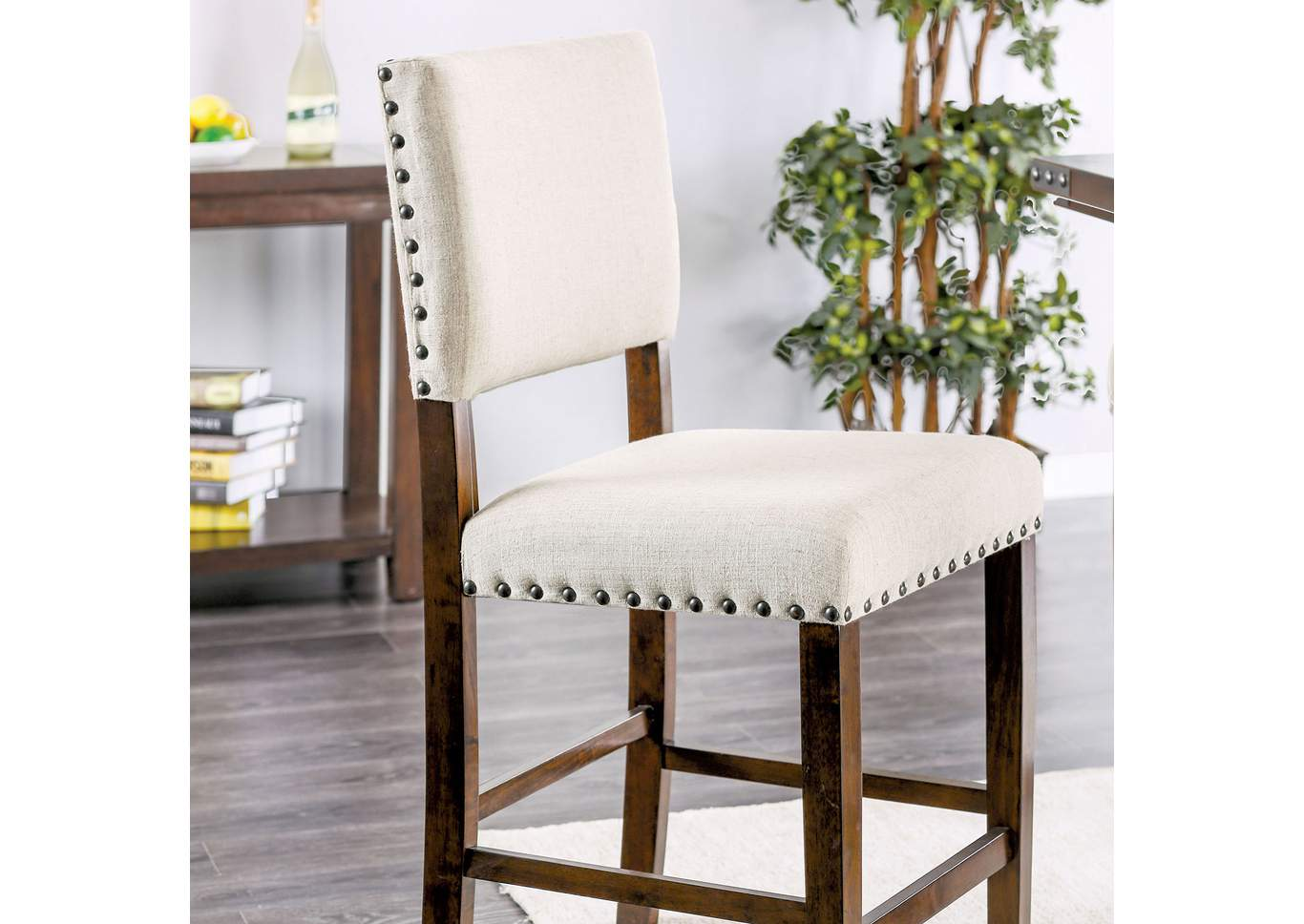 Glenbrook Linen Counter Height Chair (Set of 2),Furniture of America
