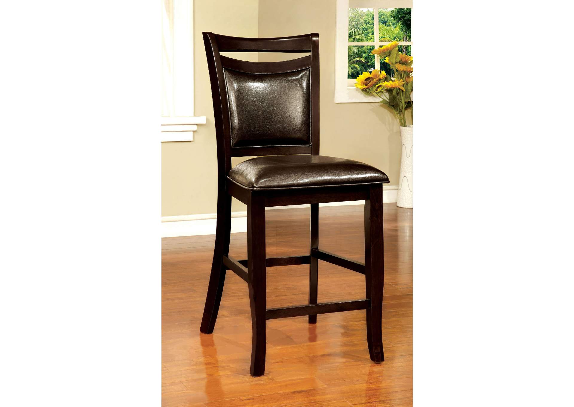 Woodside II Espresso Counter Height Chair (Set Of 2),Furniture Of America