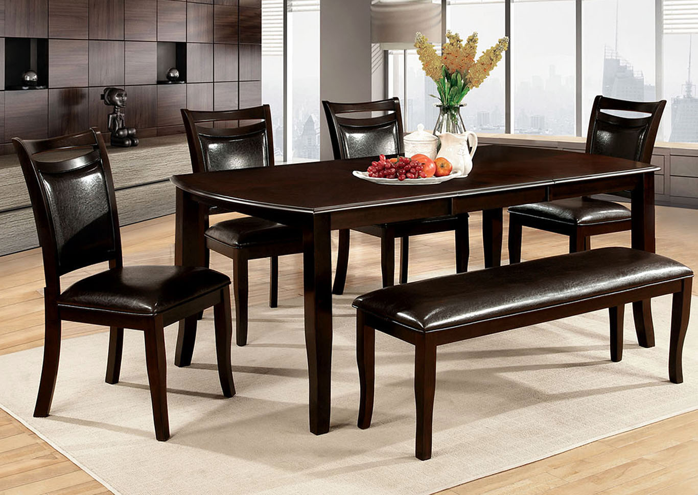 Woodside Ll Espresso Counter Height BenchFurniture Of America