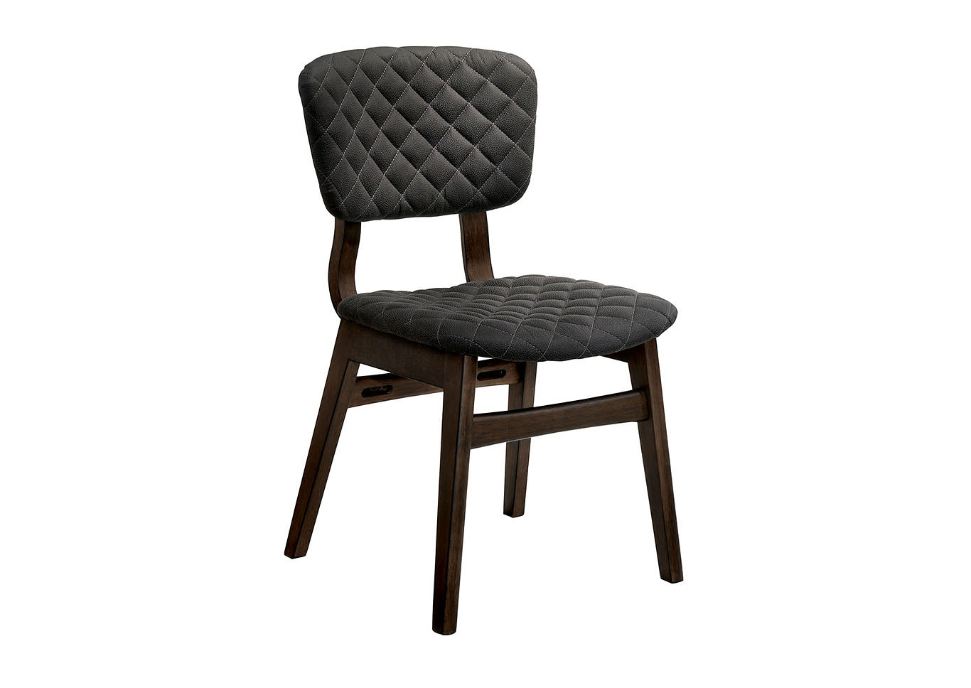 Shayna Espressso Upholstered Side Chair (2/Ctn),Furniture of America