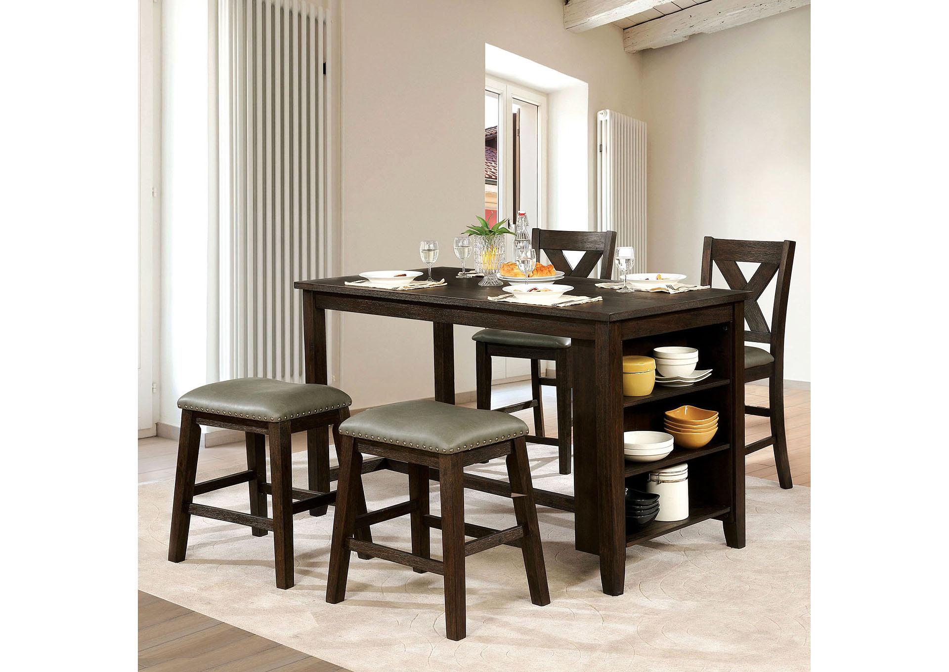 Lana dark walnut counter height tablefurniture of america