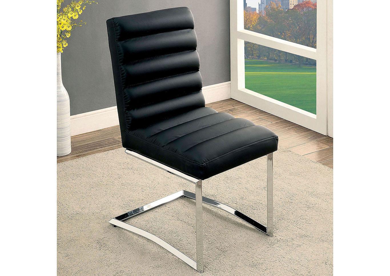 Livada I Black Side Chair Set Of 2 Sweet Home Furniture By Niposul