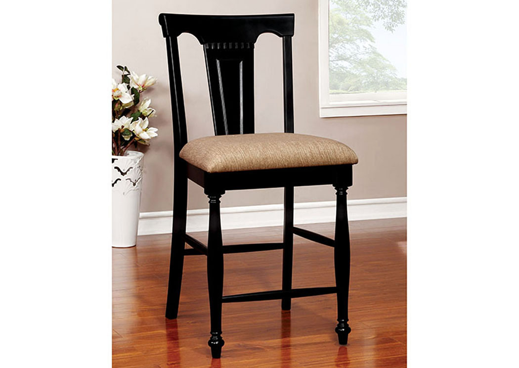 Sabrina Cherry and Black Counter Height Chair (Set of 2),Furniture of America
