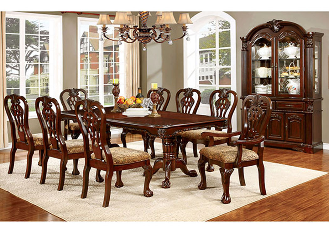 "Elana Cherry Dining Table w/18"" Leaf,Furniture of America"