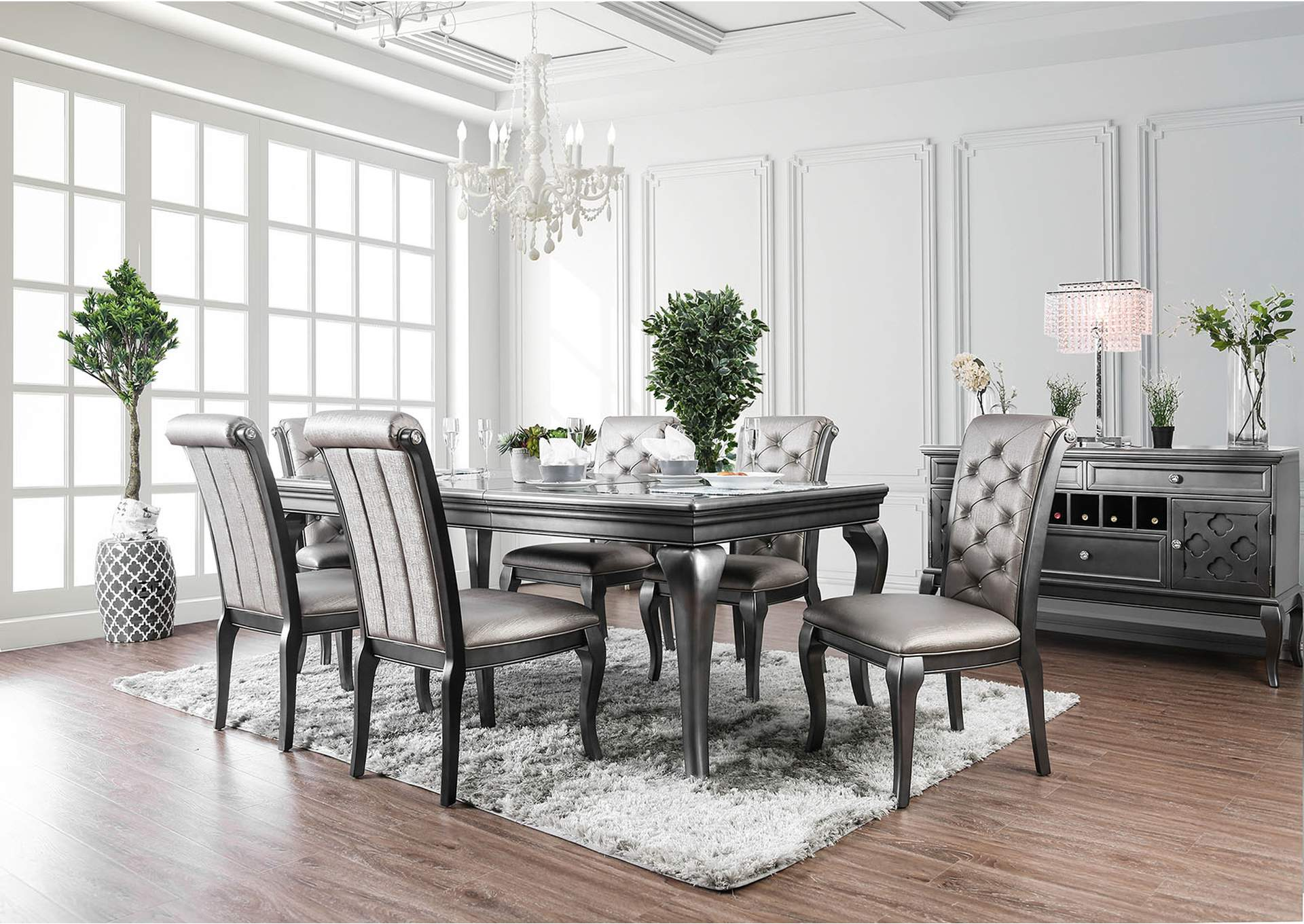 Amina Dining Table,Furniture of America