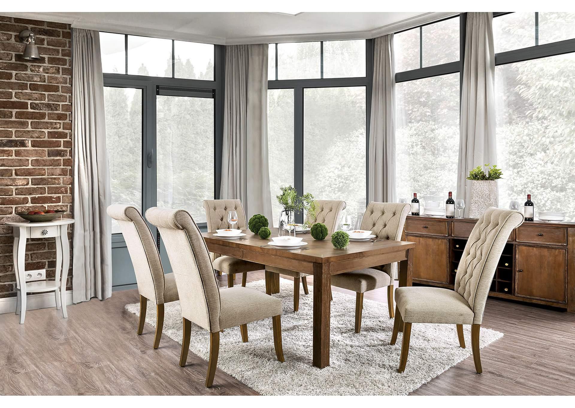 Sania Iii Rustic Oak Dining Table Lazy River Furniture