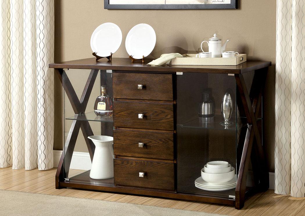 home stars furniture toronto dark oak server