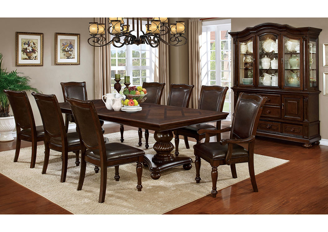 iDeal Furniture Austell Alpena Brown Cherry Dining Table