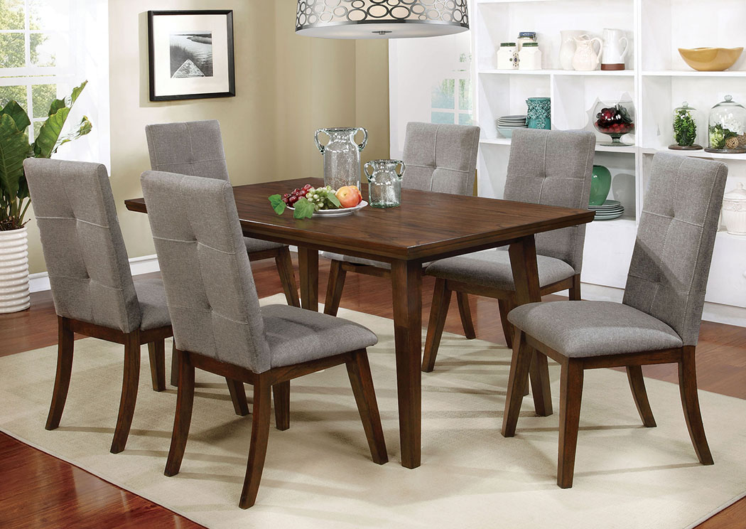 Abelone Walnut Dining Table,Furniture of America TX