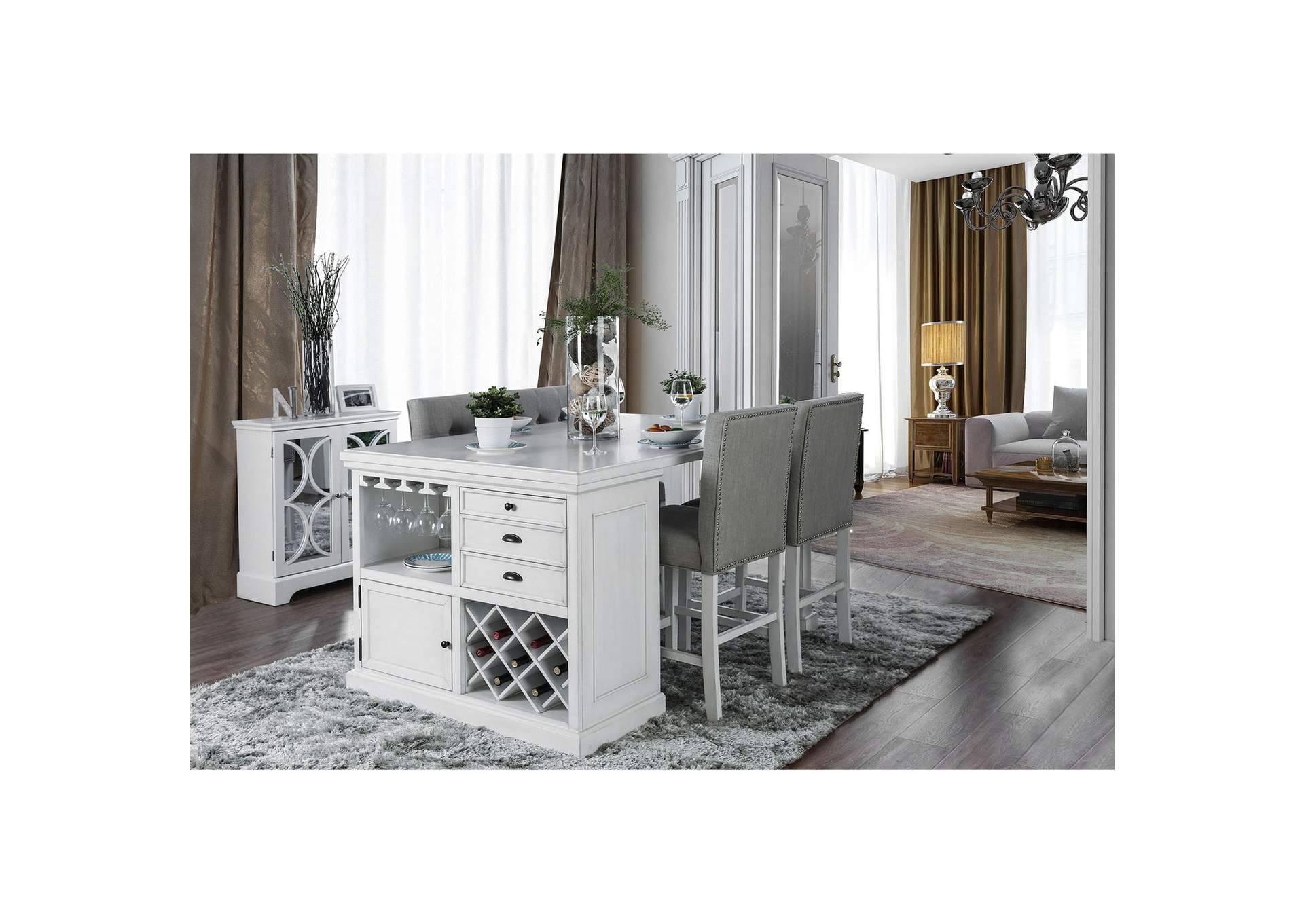 Sutton Counter Height Table,Furniture of America