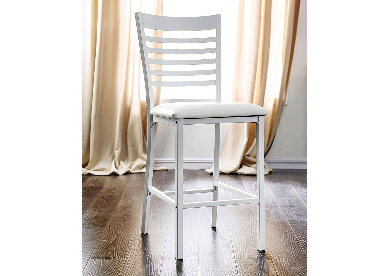 Arwen White Counter Ht. Chair (2/Ctn),Furniture of America