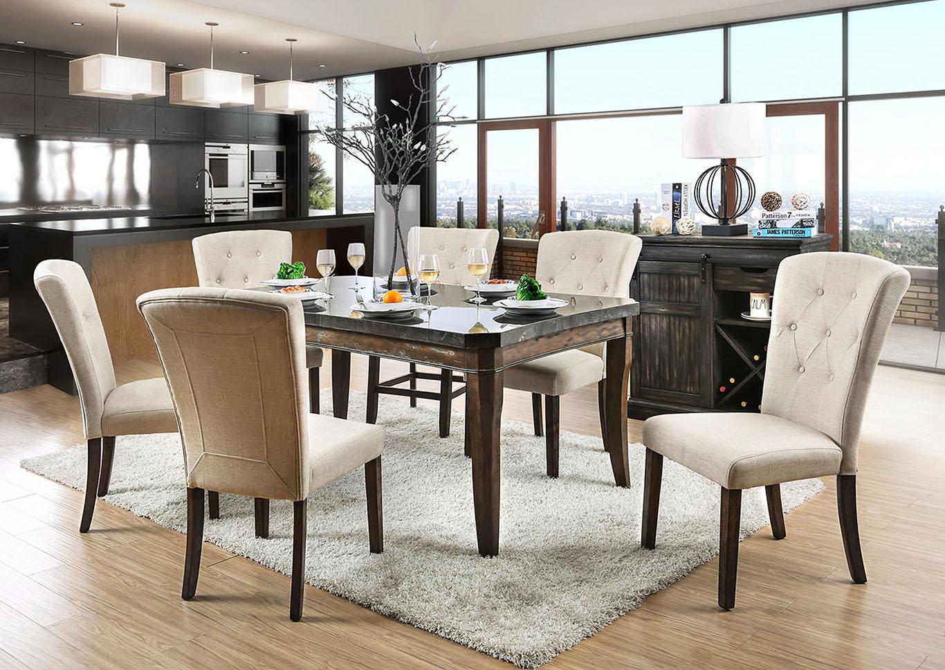 Schoten Antique Dark Oak Dining Table,Furniture Of America