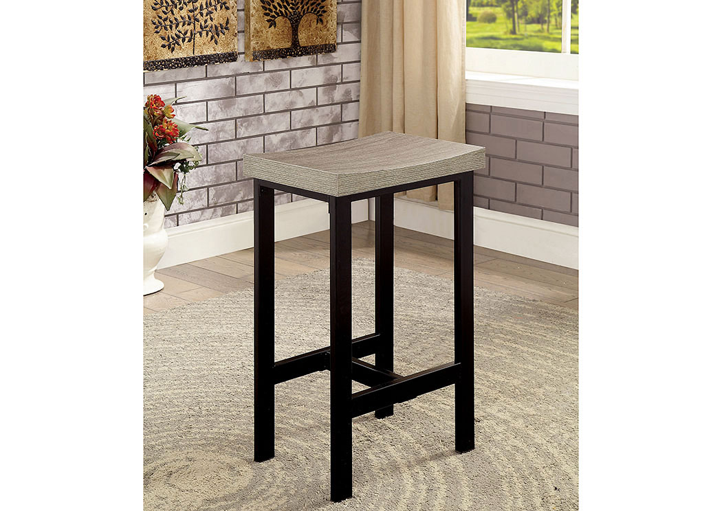 Vilvoorde Natural Tone/Gray 5 PC. Counter Height Table Set,Furniture of America