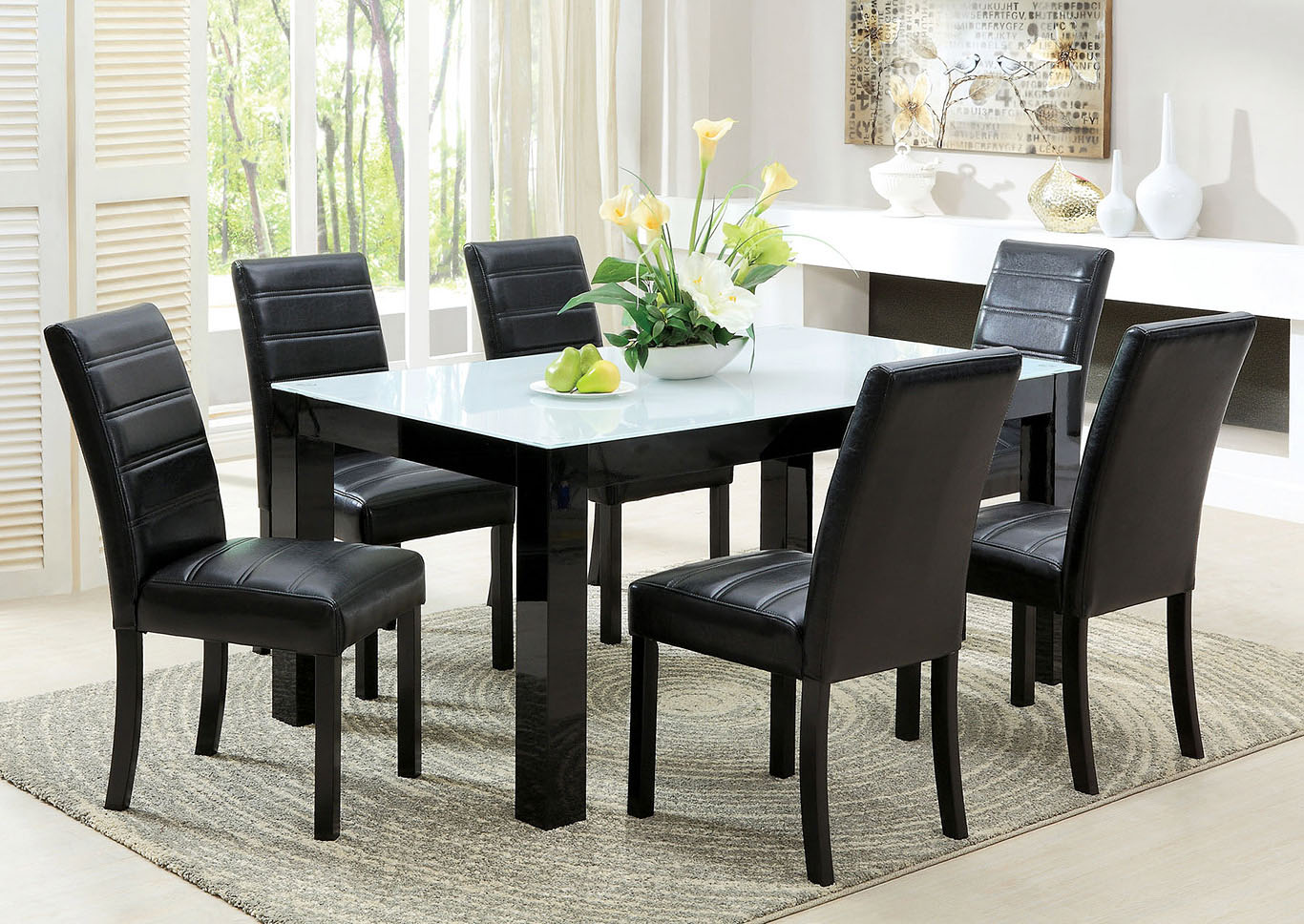 Elise I Black Rectangular Dining Table,Furniture of America