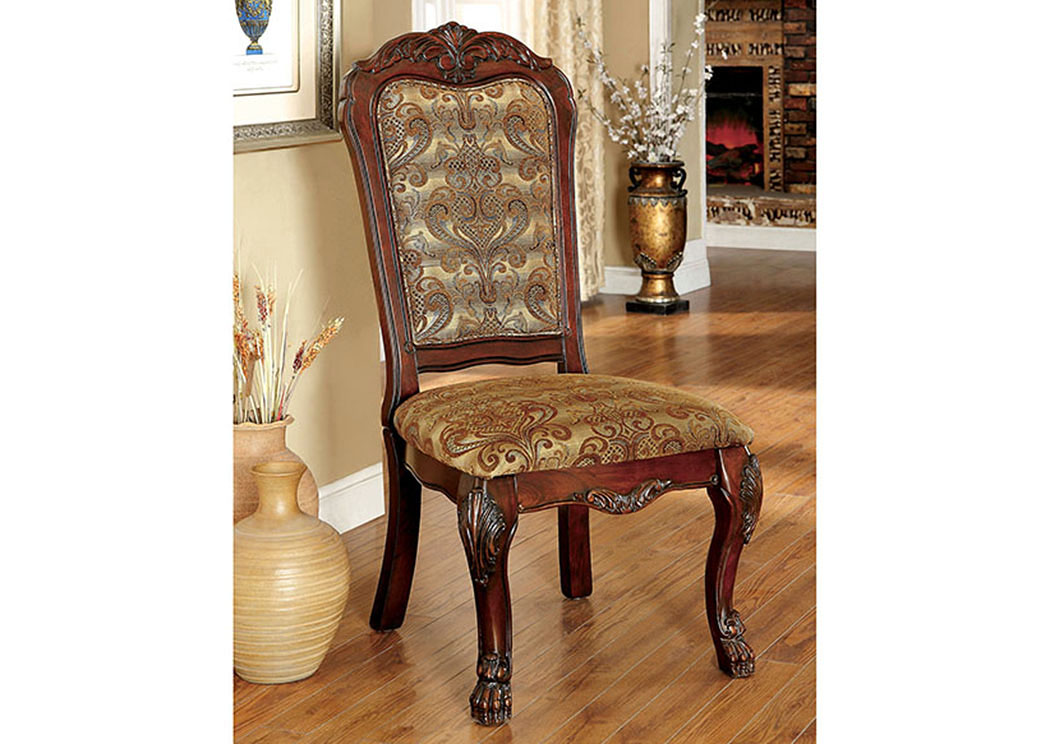 Medieve Cherry Side Chair (2/Box),Furniture of America