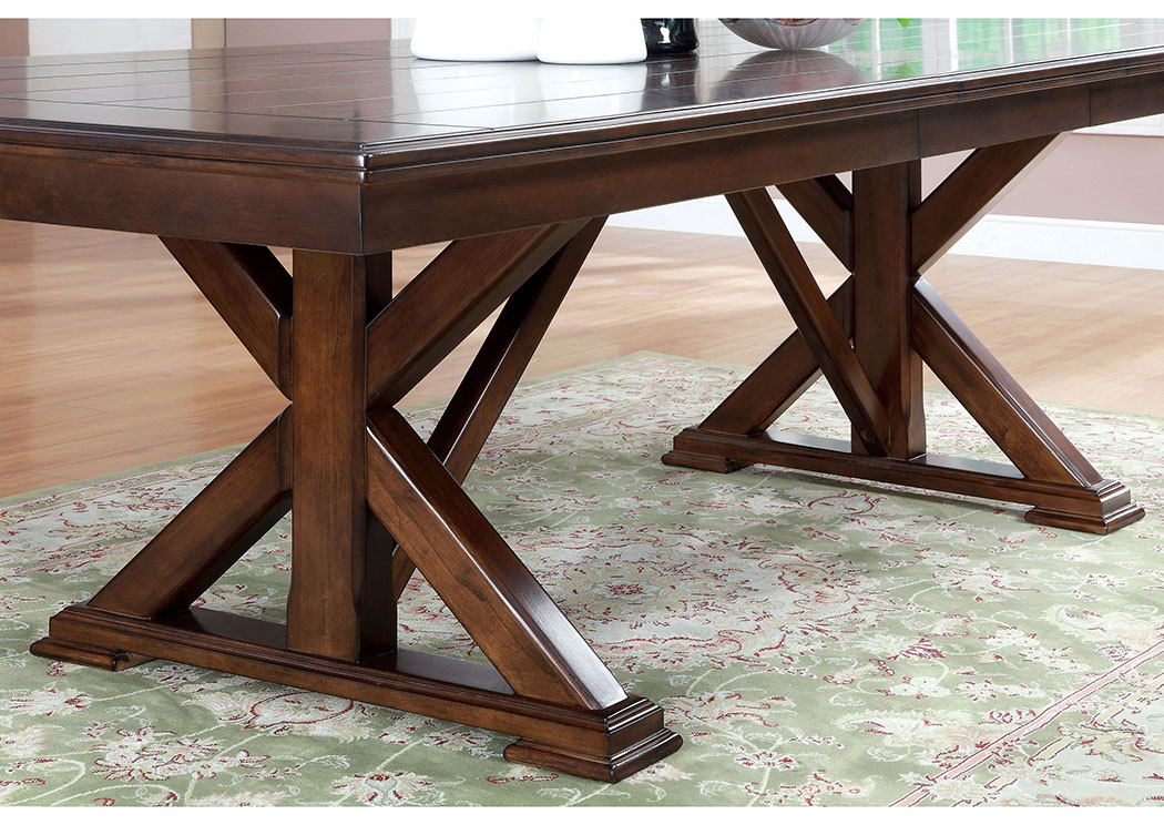 09a40eed52c5 Rightway Furniture   Rental Descanso Brown Cherry Cross Leg Dining ...