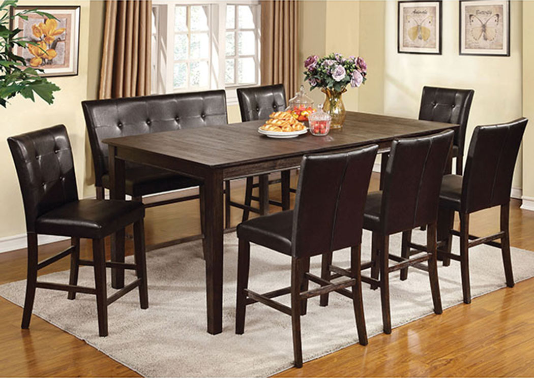 Edgemont II Wire Brushed Dark Oak Counter Ht. Table,Furniture of America