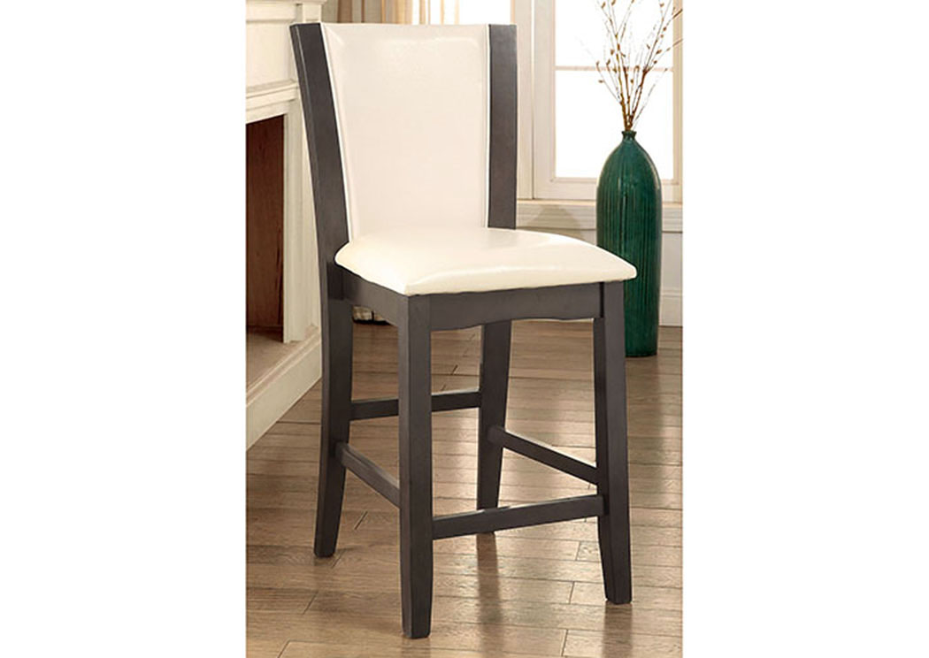 Manhattan III Gray And Ivory Counter Height Chair (Set Of 2),Furniture Of