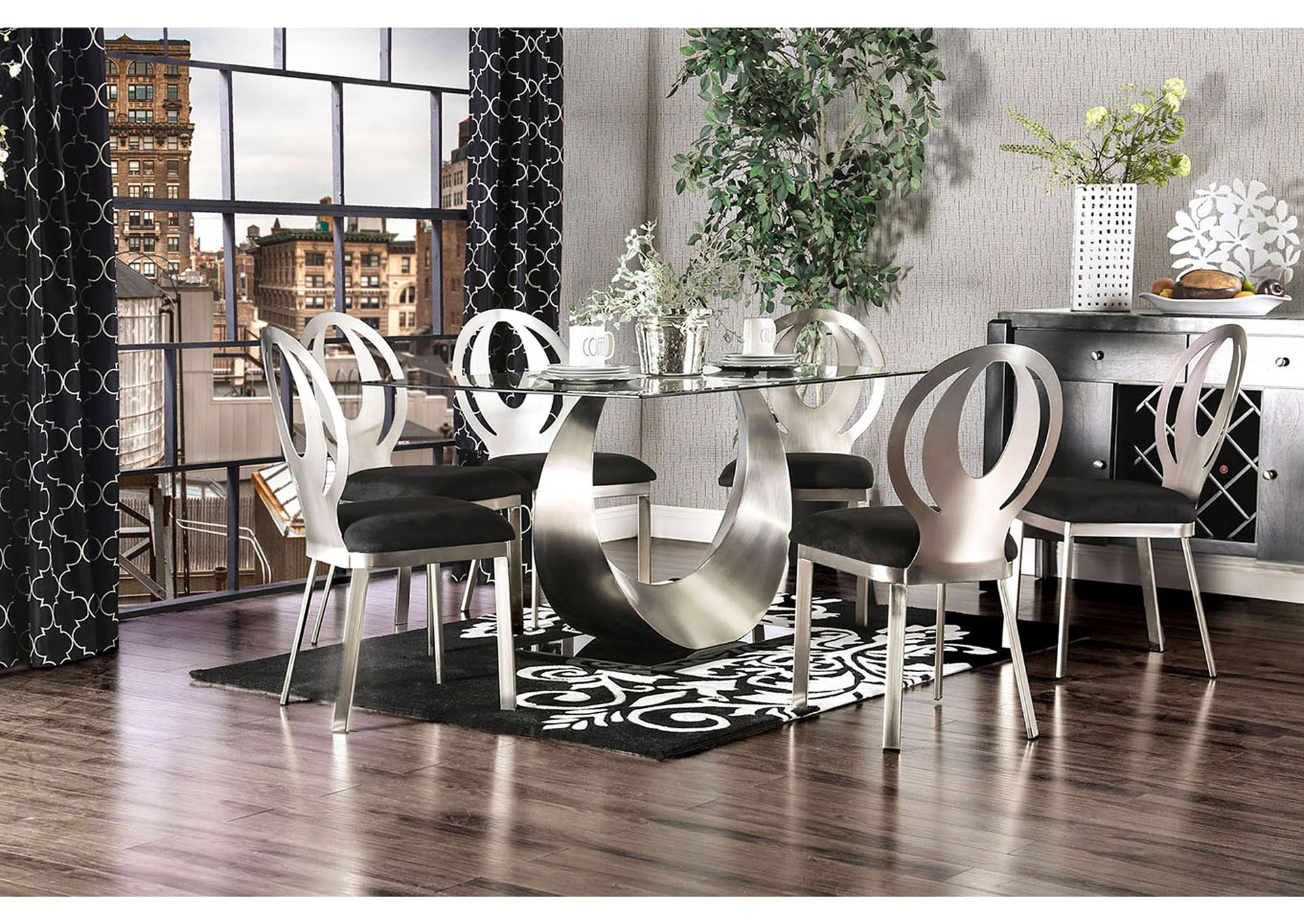 Black And Silver Dining Room Sets