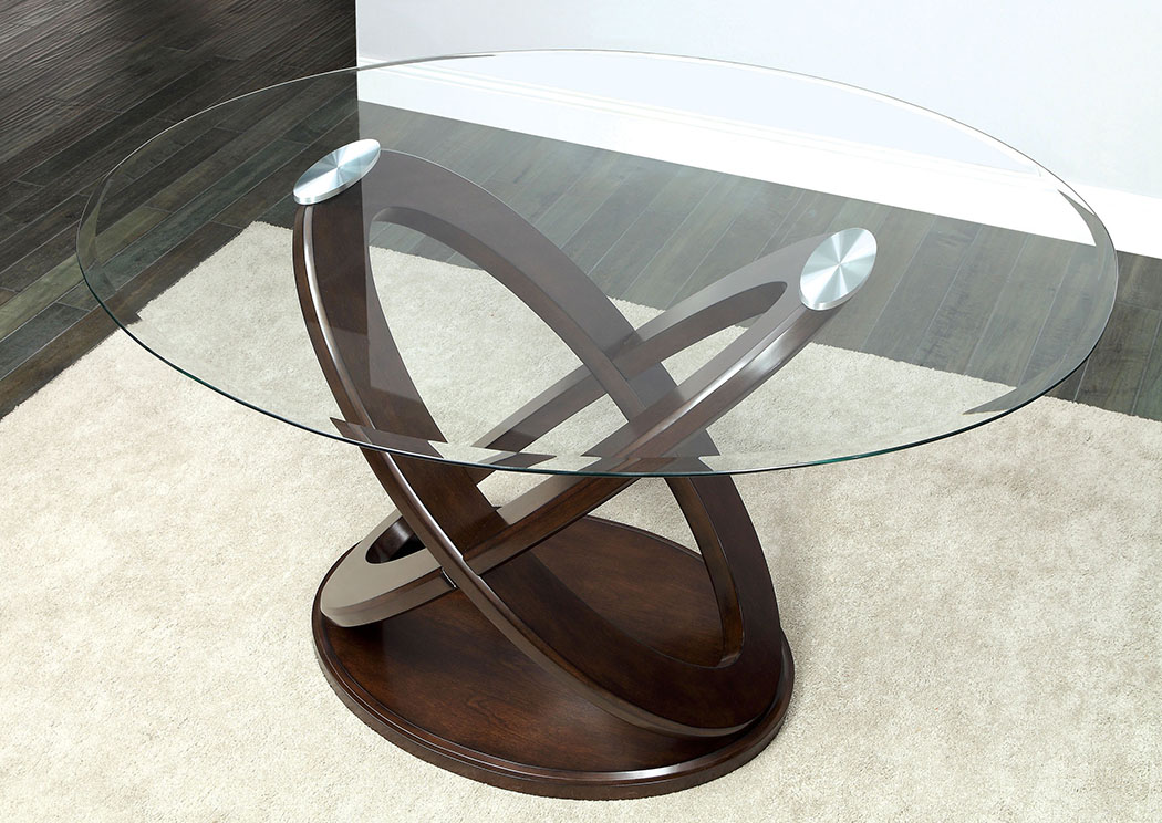 Atenna Ll Oval Counter Height Table W/Glass Top U0026 Cross Oval Table Base,