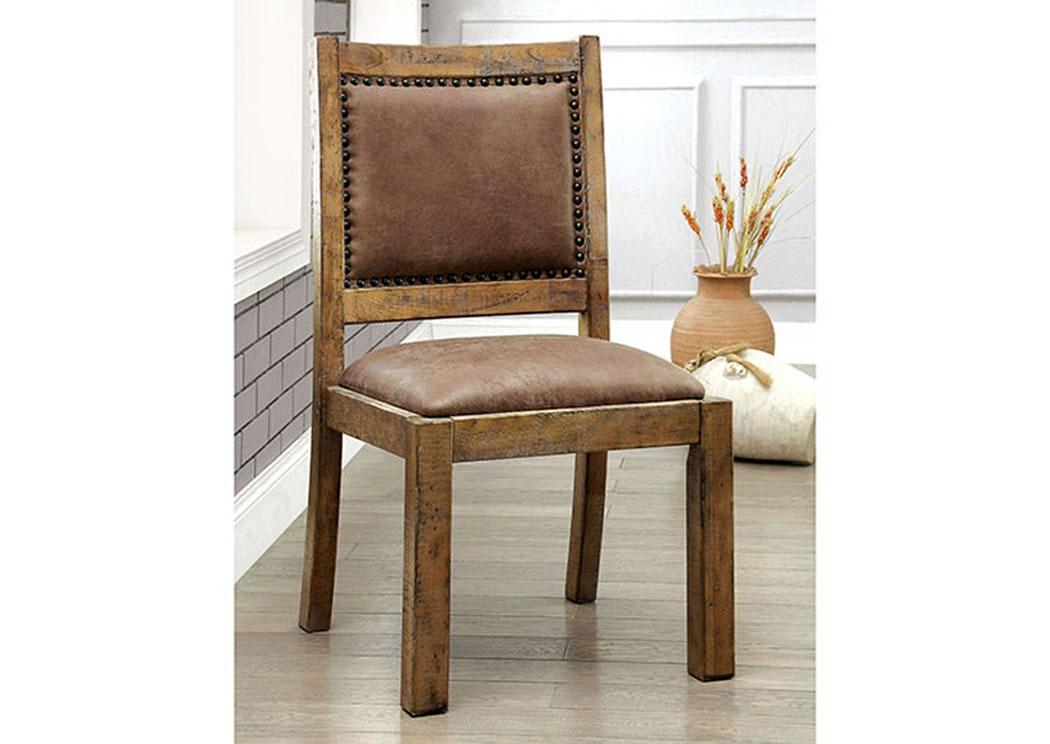 a4fa7c9a1c7e Gianna Rustic Pine Side Chair (Set of 2),Furniture of America