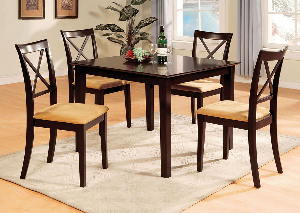 Melbourne I 48 Espresso Dining Table W 6 Side Chairs Sale Price 51999