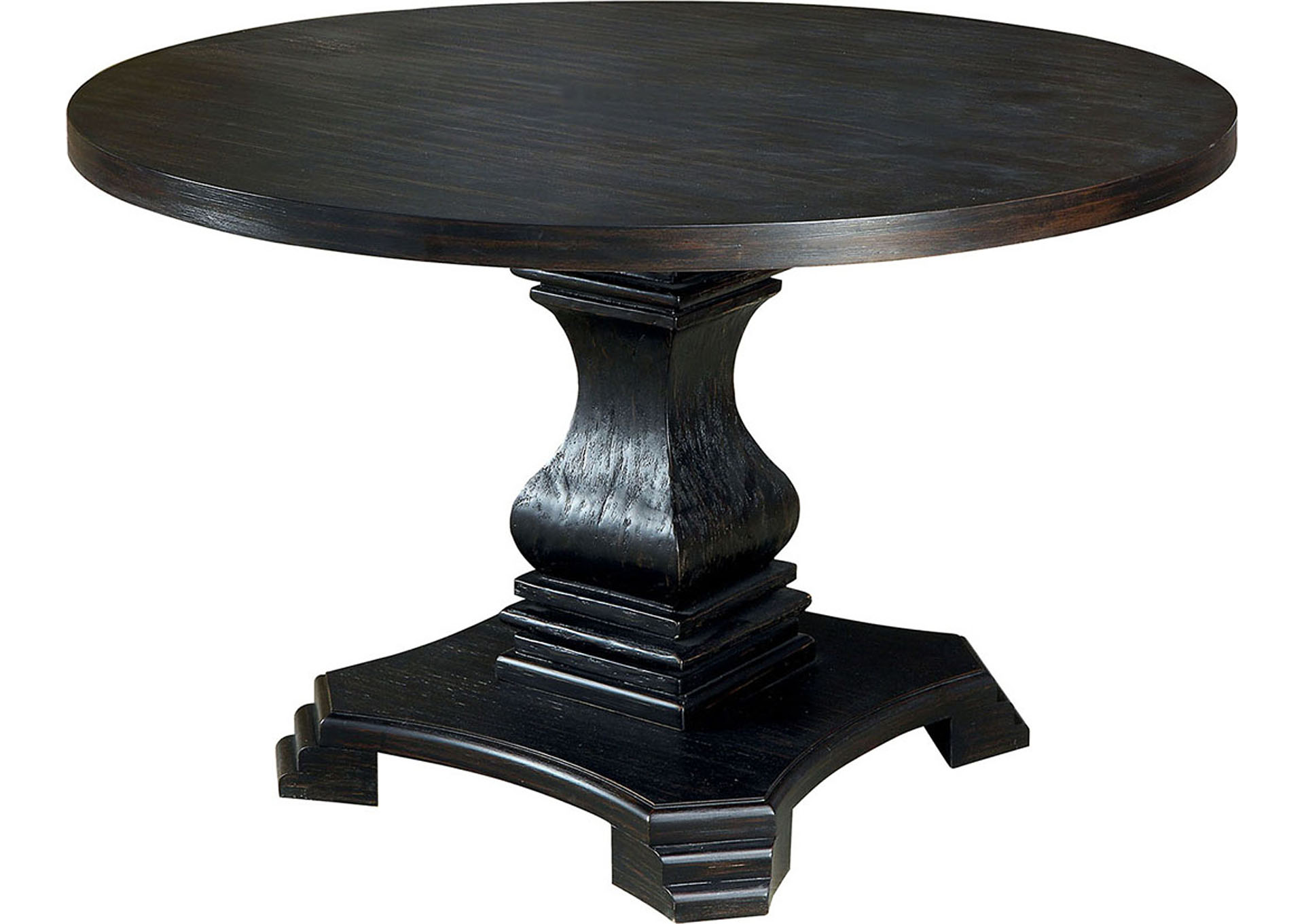 Nerissa Antique Black Round Counter Ht. Table,Furniture of America