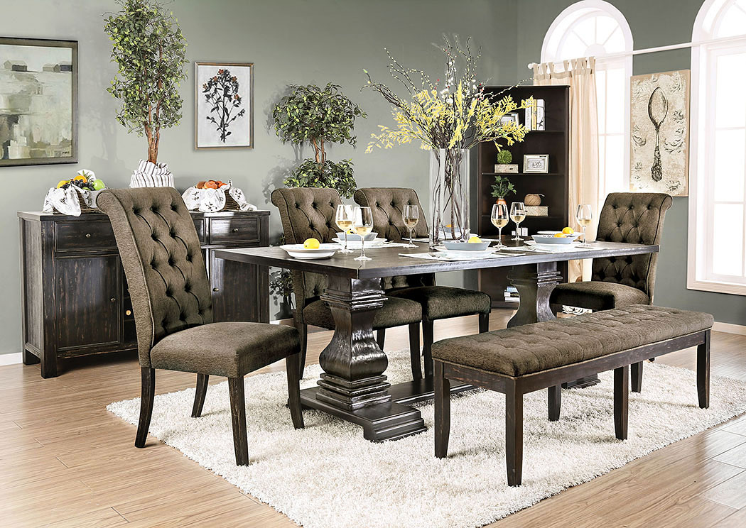 Nerissa Antique Black Dining TableFurniture Of America