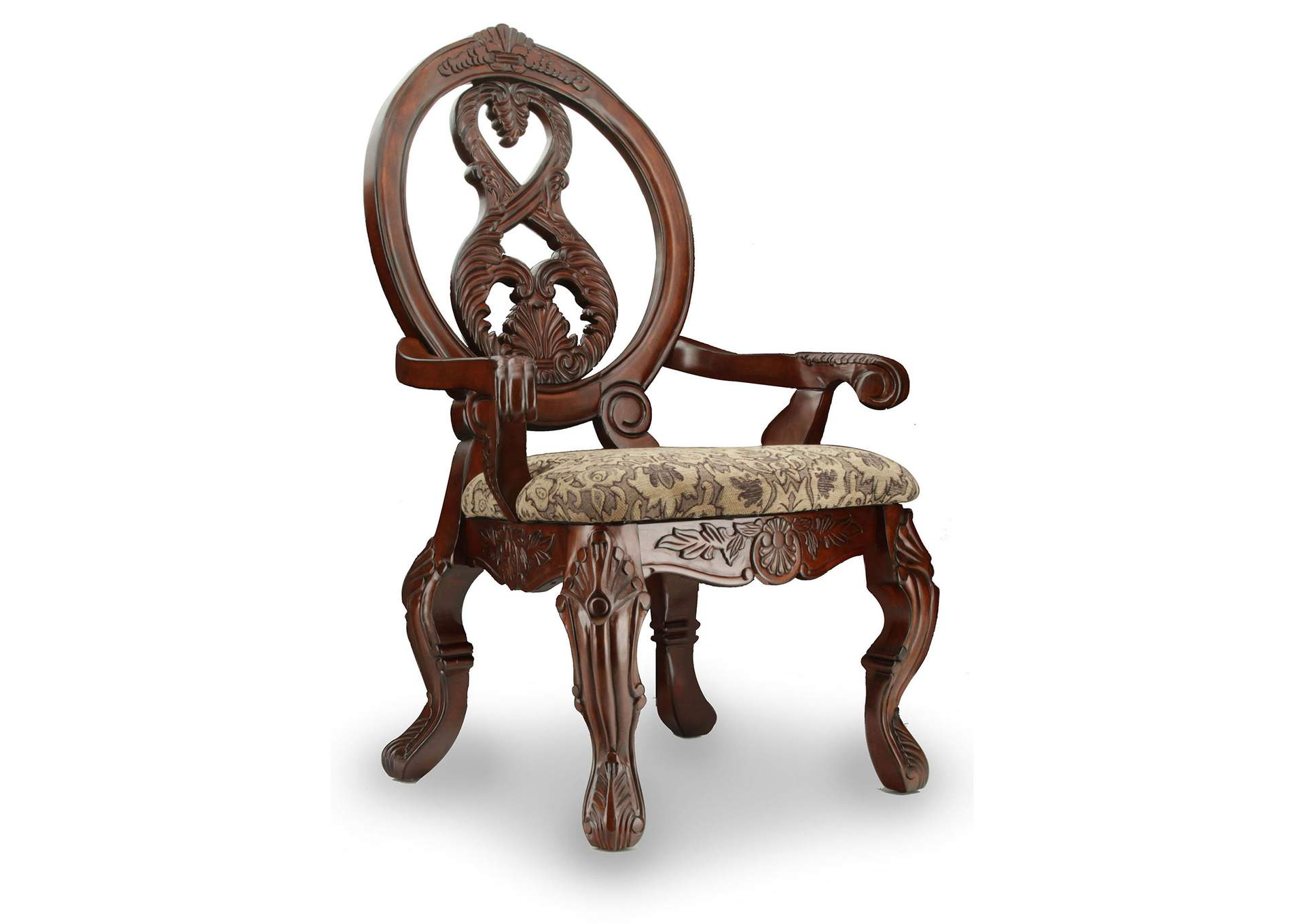 Rightway Furniture U0026 Rental Tuscany Ll Antique Cherry Arm Chair (Set Of 2)