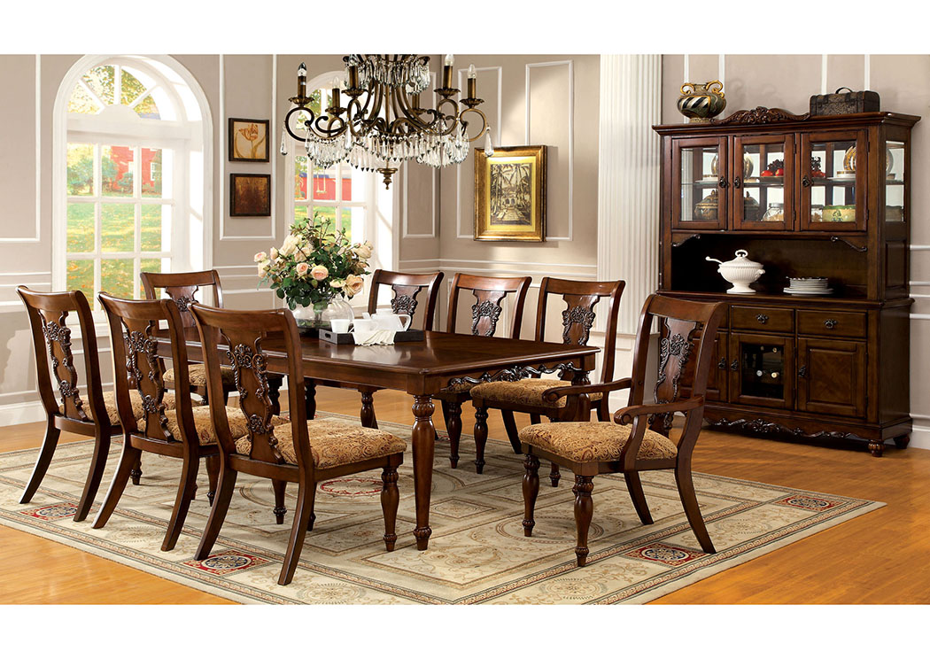 lion furniture center seymour dark oak extension dining tabl