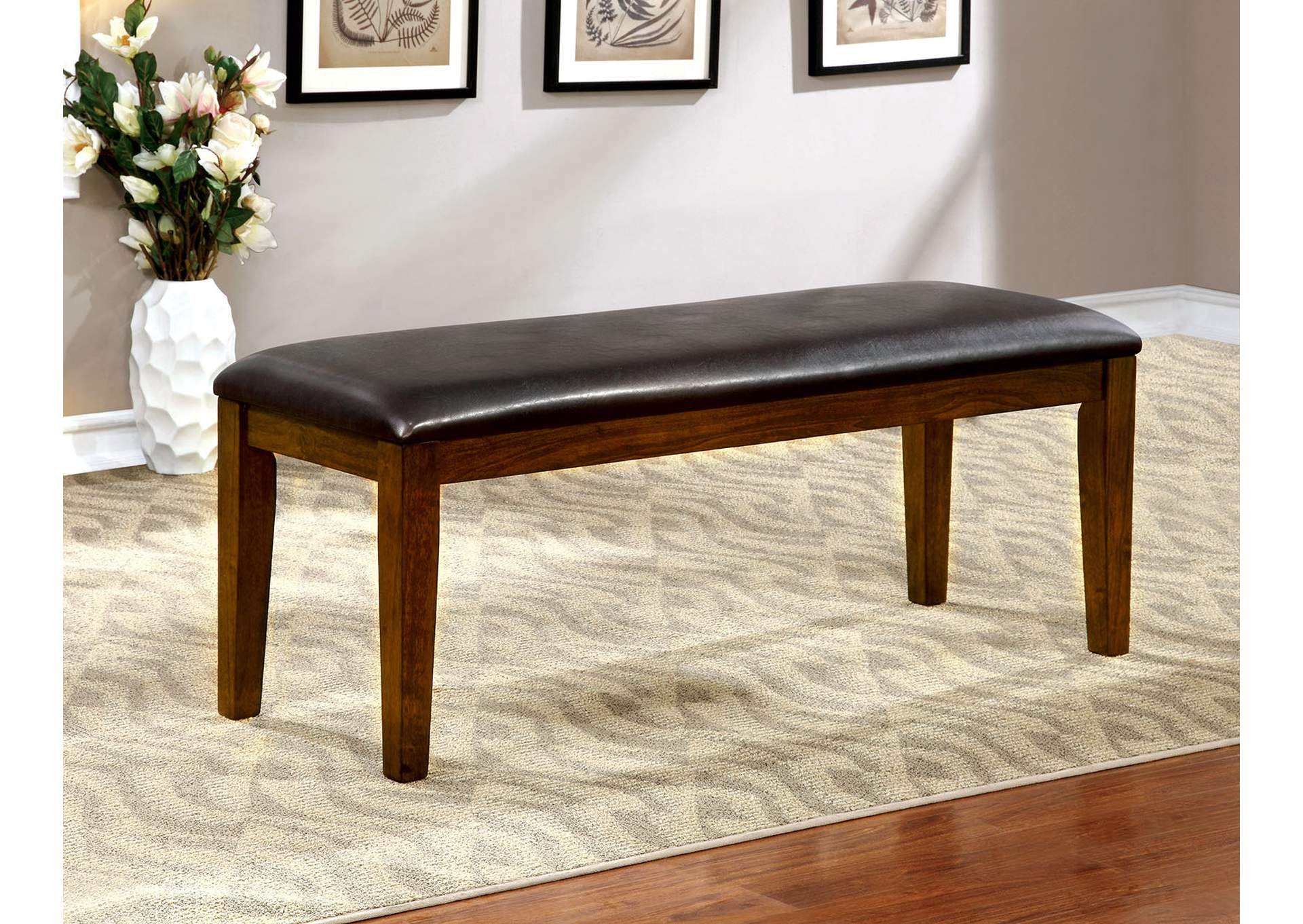 Hillsview I Brown Cherry Dining Bench,Furniture of America