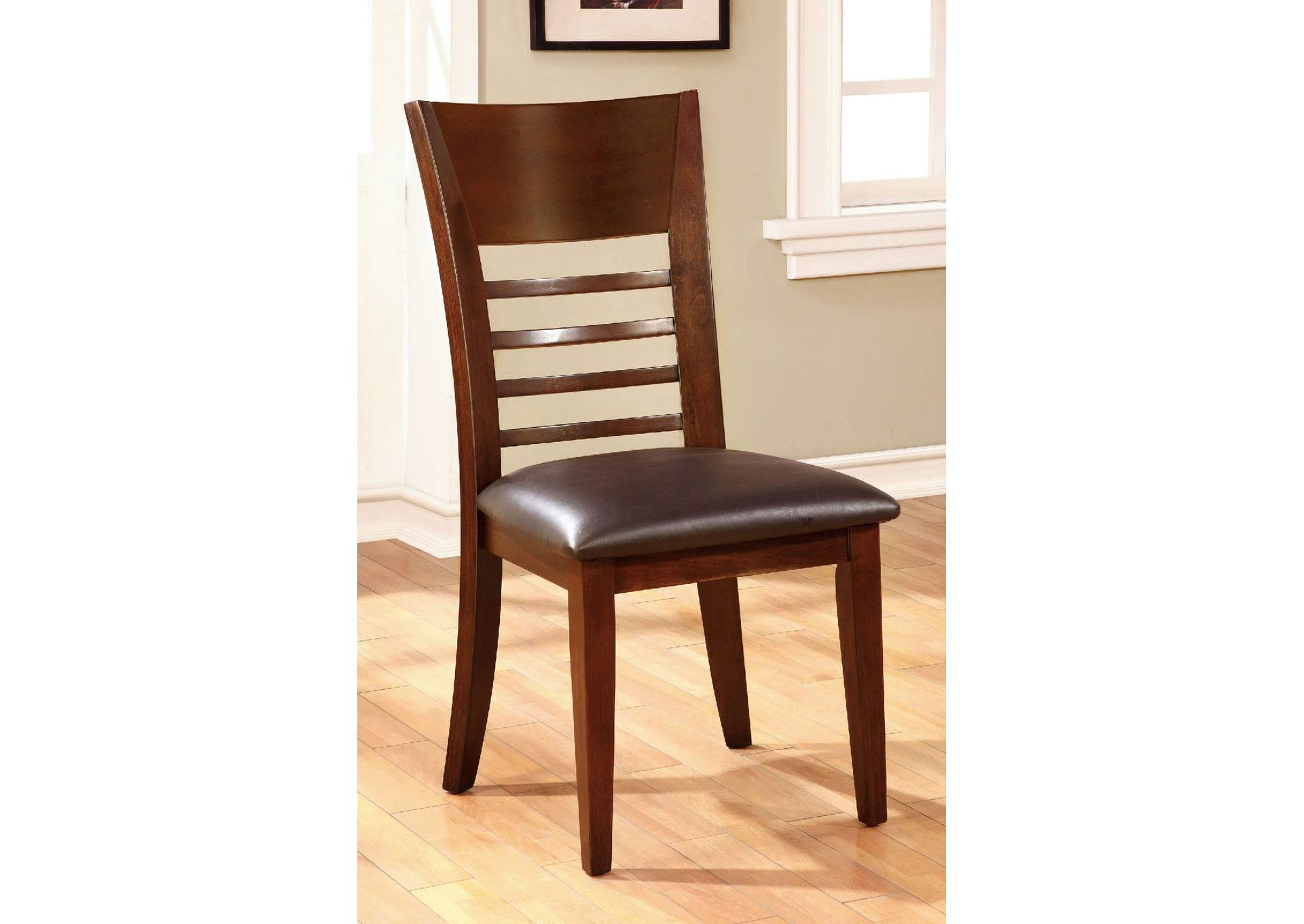 Hillsview I Brown Cherry Side Chair (Set of 2),Furniture of America