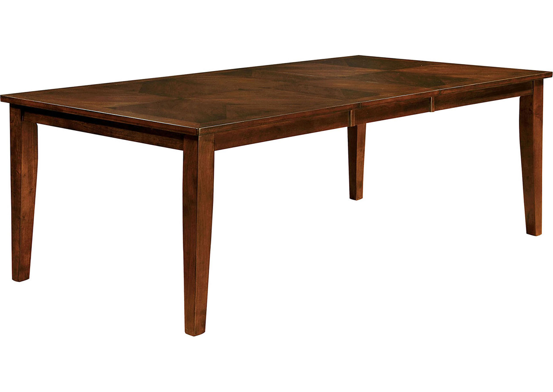 "Hillsview I Brown Cherry 78"" Extension Leaf Dining Table w/6 Side Chairs,Furniture of America"