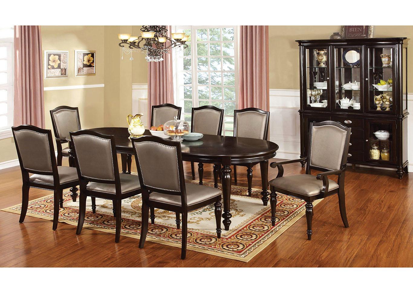 Merveilleux Harrington Dark Walnut Extension Dining Table W/6 Side Chairs U0026 2 Arm  Chairs,