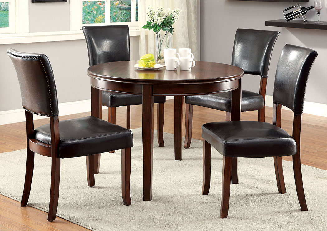 Dwight L Oak Round Dining Table,Furniture Of America