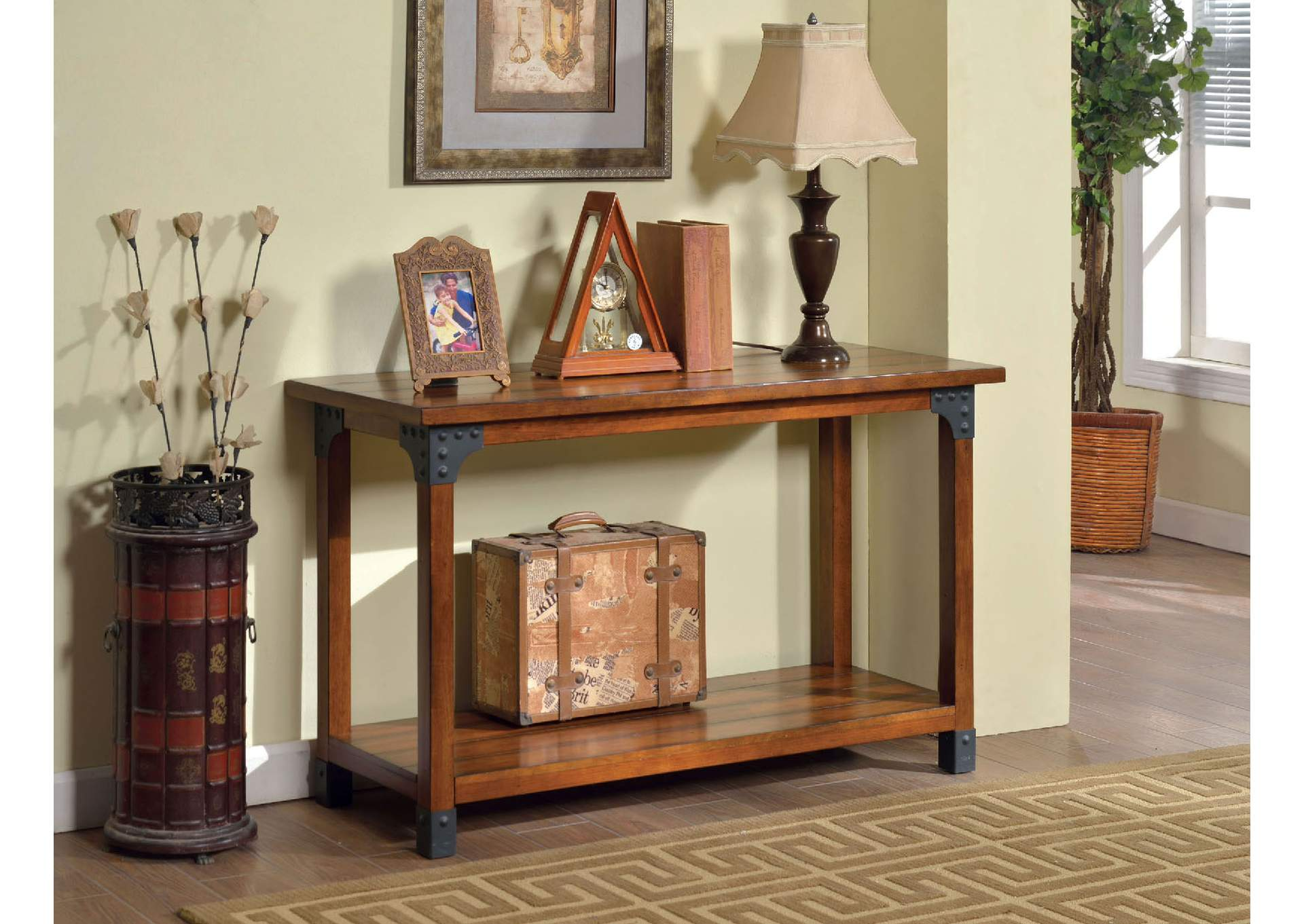 Bozeman Antique Oak Finish Sofa Table,Furniture of America