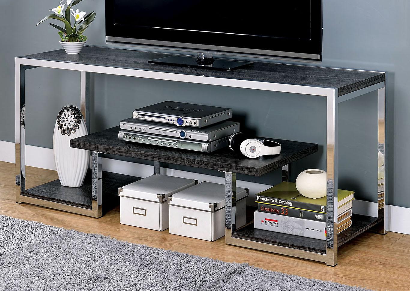 5th Avenue Furniture - MI Lier Gray/Chrome 72