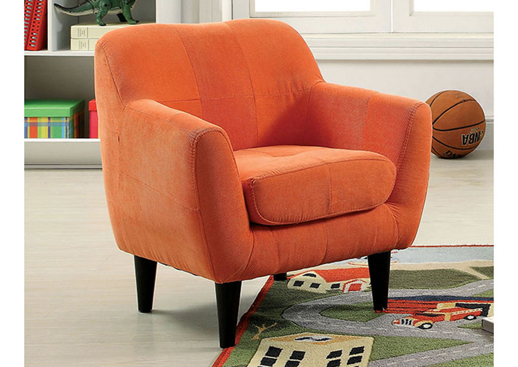 Heidi Orange Kids Arm Chair,Furniture of America