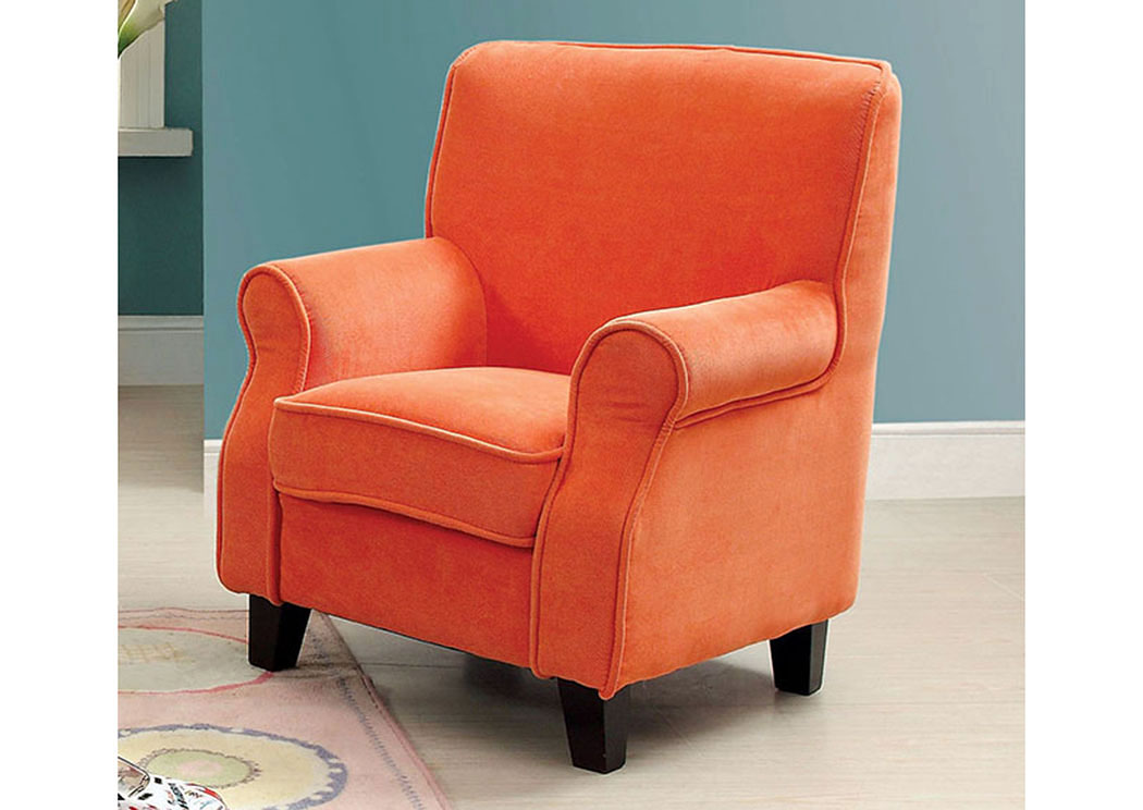 Greta Orange Kids Arm Chair,Furniture of America