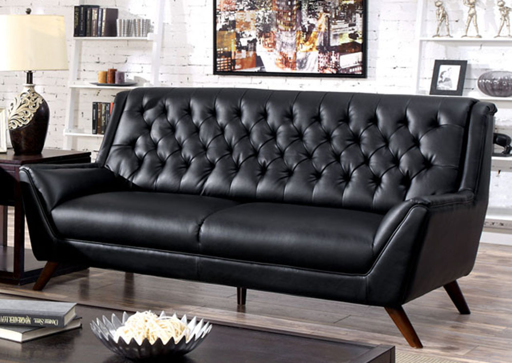 Leia Black Sofa,Furniture of America